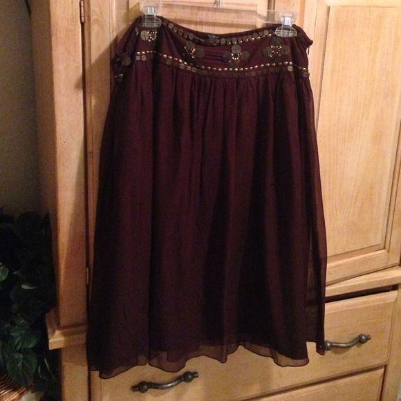 Pretty brown skirt Size 14 Skirts