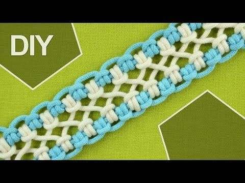 ▶ DIY / crossed sennit, chainlet - SIX strands - YouTube