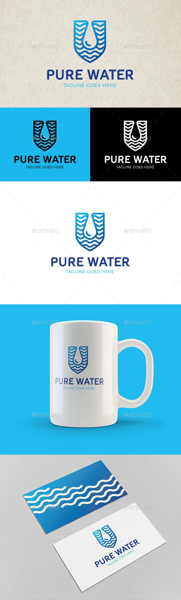 Pure Water Logo Template Vector EPS, AI. Download here: http://graphicriver.net/item/pure-water-logo/14199804?ref=ksioks