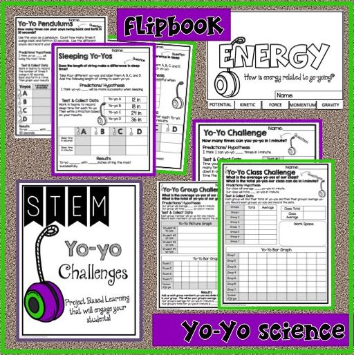 Yo-Yo STEM Activity is a packet of experiements your students will love! Yo-Yoing is a fun activitiy your students will love! It will engage your students in learning about collecting data, graphing, measurement, and Energy.