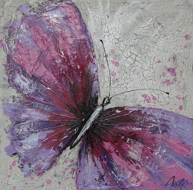 Schilderij: De Paarse Vlinder