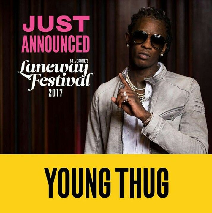 Young Thug confirmed for Laneway Festival 2017