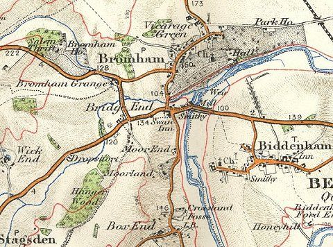 Ordnance Survey Map of Bromham, 1908.