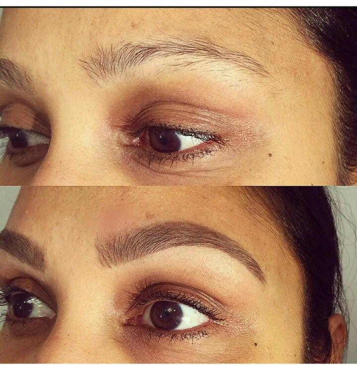 Henna brows before and after for Tattoo eyebrow tint