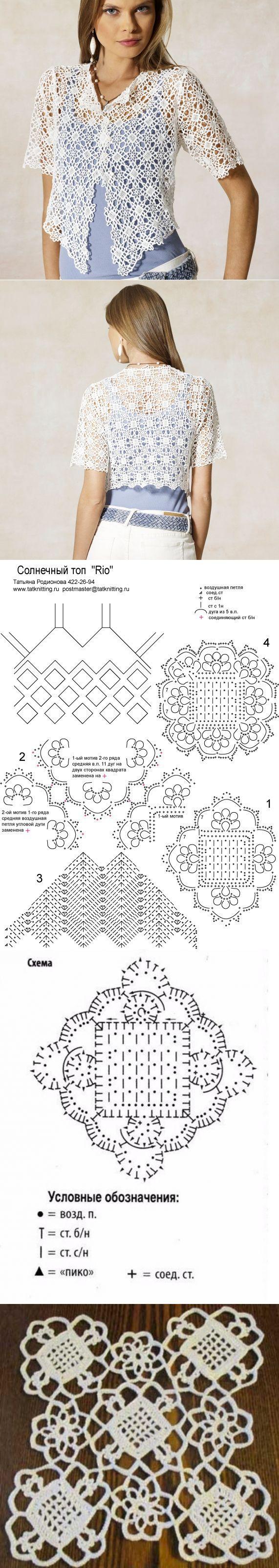 Старинный квадратный мотив с сеточкой - идеи и модели с описанием