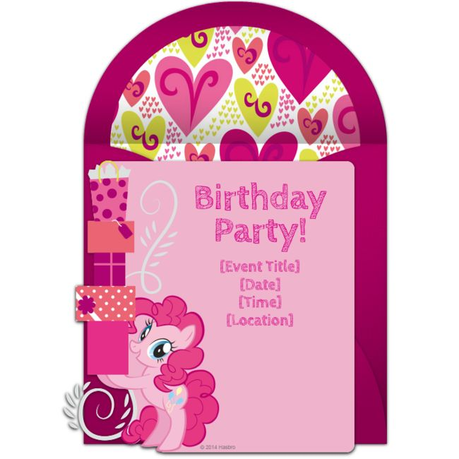 Best My Little Pony Birthday Ideas Images On Pinterest - My little pony birthday party invitation template
