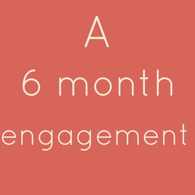 6 Month Engagement Wedding Planning Checklist