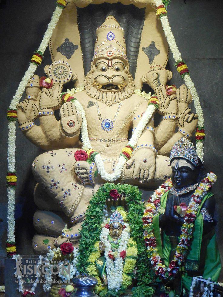 First day of Lord Narasimha in Chandan Alankar. You can offer Chandan Alankara Seva http://goo.gl/Rg3qhP