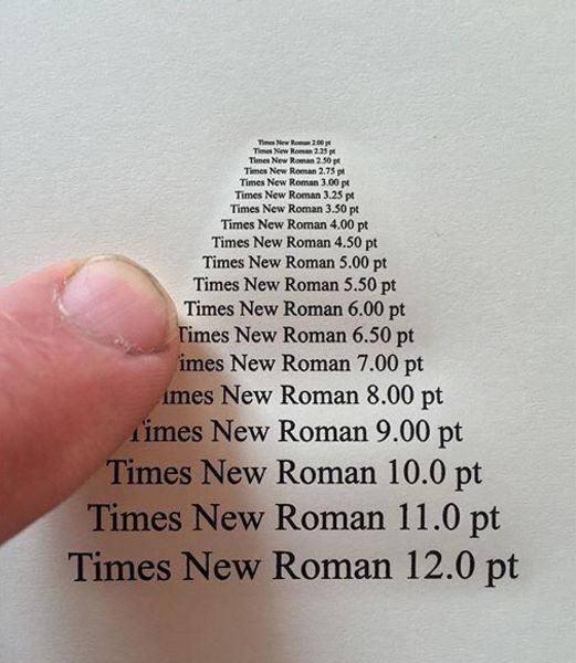 Via buzzfeed: if you are typing instead of writing out your notes, use the font Times New Roman.