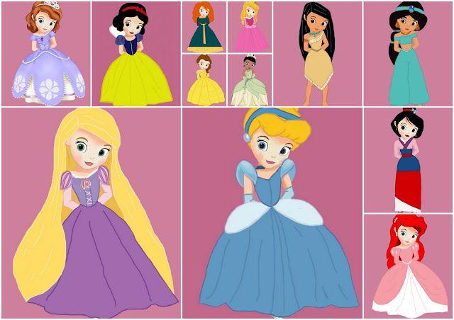Images of Disney Princess Babies dressed as Princess.