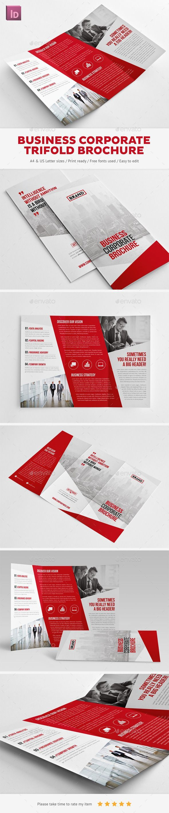 Business Corporate Trifold Brochure - Corporate Brochures http://graphicriver.net/item/business-corporate-trifold-brochure/10353710?WT.ac=portfolio&WT.z_author=Snowboy: