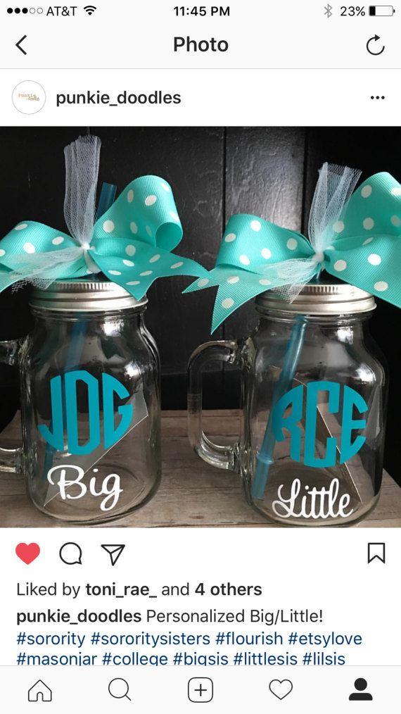 Big Sis Lil Sis Mason Jars  Big Sister  Little Sister
