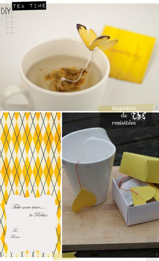L'atelier du mercredi : avec des sachets de thé {cadeaux de fin d'année}