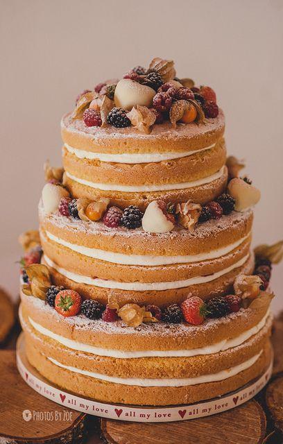 Congratulations Eleanor & Dave xx by Photos By Zoe, via Flickr - with gorgeous #nakedcake #nakedweddingcake #marycakesdundee #photosbyzoe #spongeweddingcakes