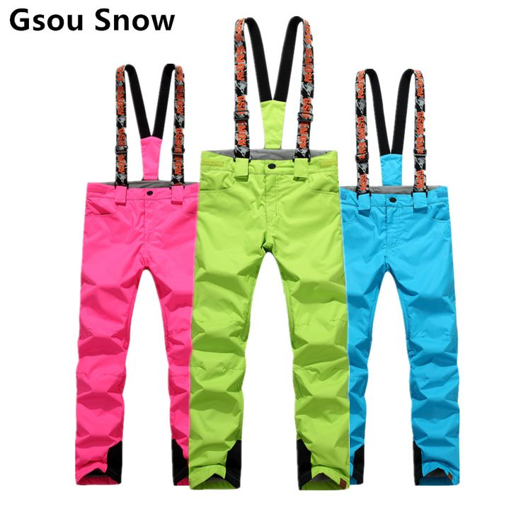 Gsou Snow Female Ladies Women Plus Size Womens Skiing And Snowboarding Trousers Waterproof Warm Outdoor Skis Pants