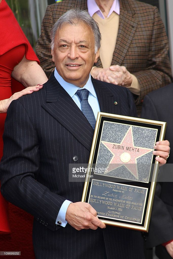 Maestro Zubin Mehta attends the ceremony honoring him with a Star on the Hollywood Walk of Fame on March 1, 2011 in Hollywood, California.
