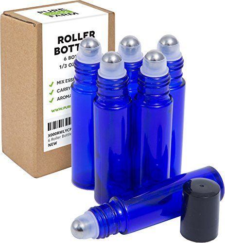 Product review for Pure Essential Oils Roller Bottles with Recipe eBook, 6-Pack, Cobalt Blue  - QUALITY & A COMPANY YOU CAN TRUST: Pure Acres Farm is a family owned & operated business. We are known for our high quality products, A+ service, and product integrity. When you order your glass roller bottles right now, you can rest assured knowing you'll be using a high-quality...