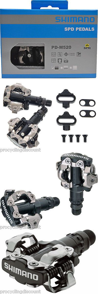 Pedals 36137: New 2017 Shimano Mtb Mountain Bike Clipless Pedals And Spd Cleats: Pd-M520 Black -> BUY IT NOW ONLY: $32.88 on eBay!