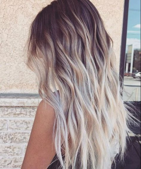 #New Hairstyles 2017 50 Natural Balayage Hair Color Ideas # White Hair # Trend ….