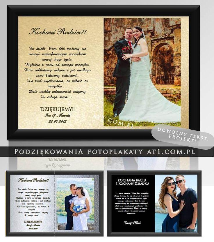 #podziękowaniadlarodziców #fotoramka ze zdjeciem #fotoplakaty #projektowanie #drukkrakow Sucha beskidzka www.At1.com.pl
