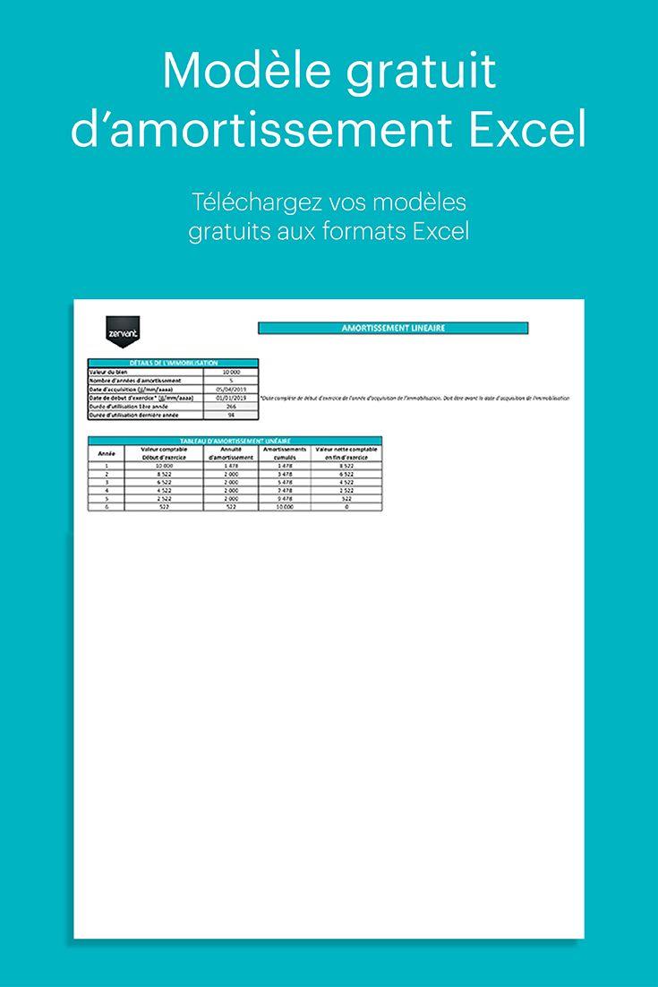 Modele Gratuit De Tableau D Amortissement Excel Lineaire Et Degressif Tableau Excel Gratuit Exercice Comptable Modele Facture