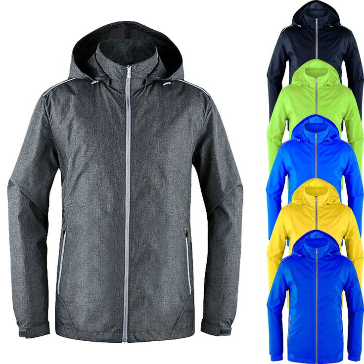 Mens Ultralight Soft Shell Windproof Hooded Hiking Breathable Hi Vis Jacket Coat #hellobincom #UltralightWindproof