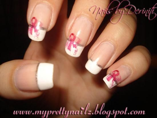 108 best breast cancer awareness nail art images on pinterest breast cancer awareness french tips nail art gallery by nails magazine prinsesfo Gallery