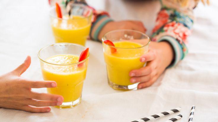 Gele paprika power shake - zomer recept paprika