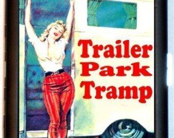 Trailer Park Tramp Cigarette Case ID Business Card Holder Rockabilly Pulp Humor Kitsch