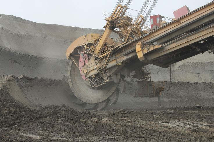 Coal mine - stripping  - Bílina, Czech republic