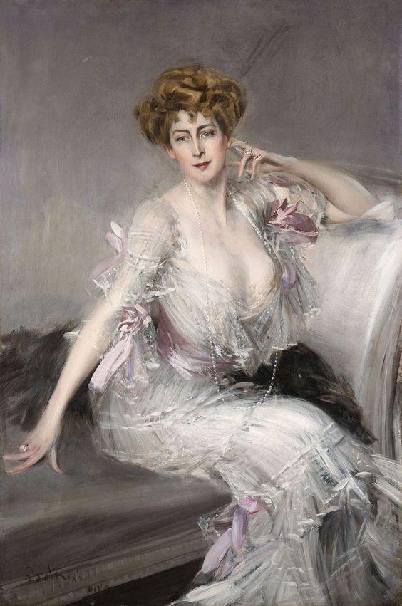 Portrait of Anna Elisabeth Hansen, by Giovanni Boldini (1902)♥: