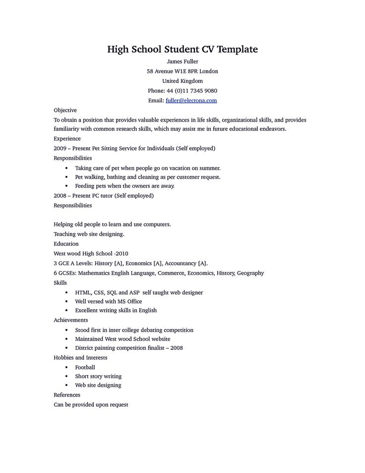 Examples Of High School Resumes Graduate School Resume. Sample Graduate  School Resume In Pdf .  Sample Graduate School Resume