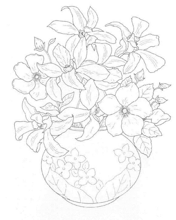 coloring page Bouquets Kids-n-Fun