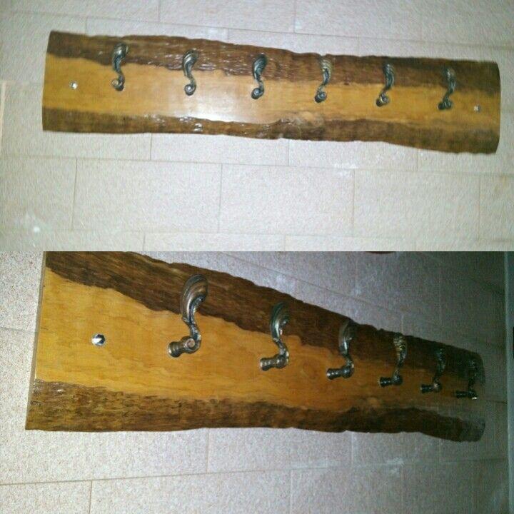 Rustic wood hanger