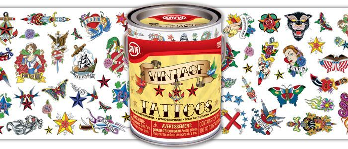 Vintage style temporary tattoos ~ rockabilly shoot More