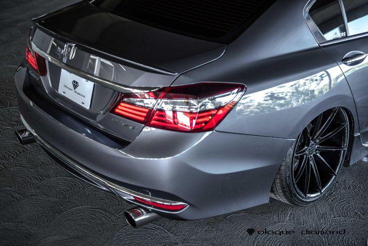 Asphalt Gray Honda Accord Rolling on Blaque Diamond Rims