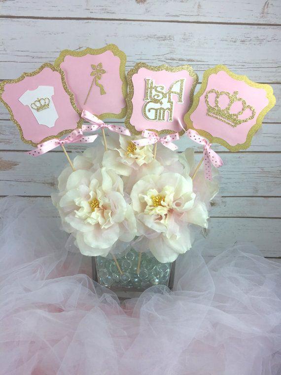 Set of 4 Princess Baby Shower Centerpiece by DomesticDivaDesignz