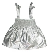 egg by suzan lazar Baby-girls Infant Metallic Smocked Top