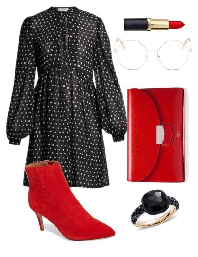 """Untitled #209"" by zsofi-szibilla on Polyvore featuring Yves Saint Laurent, CÉLINE, Chloé and Pomellato"