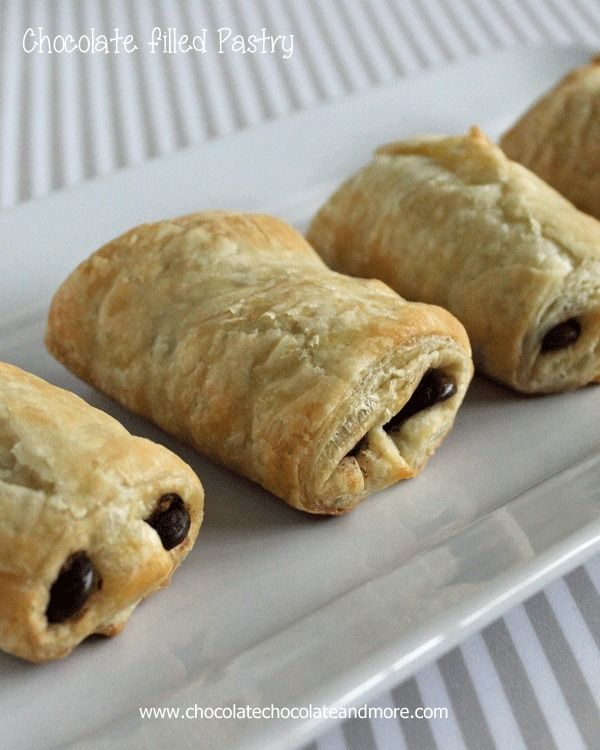 Chocolate filled Pastry-good things don't have to be complicated.