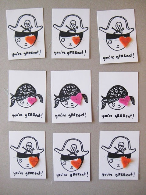 pirate valentine: Classroom Idea, Valentine Day Card, Valentine Idea, Valentine Card, Valentine'S S, Crafts Projects, Thank You Card, Diy'S Gifts, Pirates Valentine