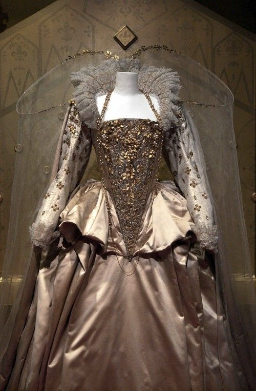 This dress from last year's Oscar winner for costume design Elizabeth: The Golden Age, sits on display at the 17th annual Art of Motion Picture Costume Design exhibition at the Fashion Institute of Design & Merchandising Museum in Los Angeles