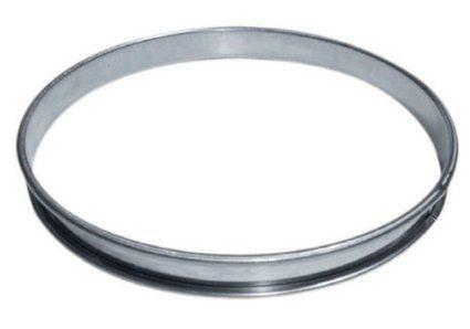 Cuisineonly - Cercle inox a tarte diametre 26cm hauteur 2.1cm, , Inox: Amazon.fr: Cuisine & Maison