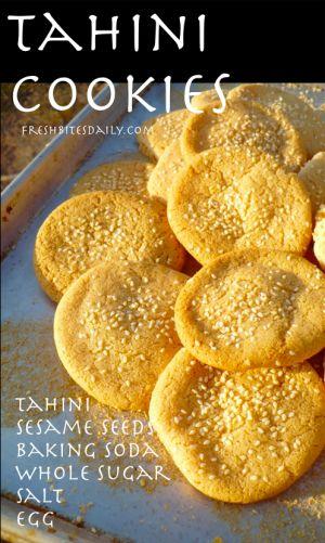 Tahini Cookies at FreshBitesDaily.com