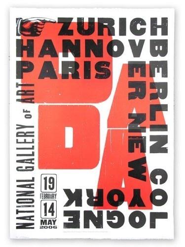 YeeHaw, Giant Dada One-Sheet Hand Pulled Letterpress Print