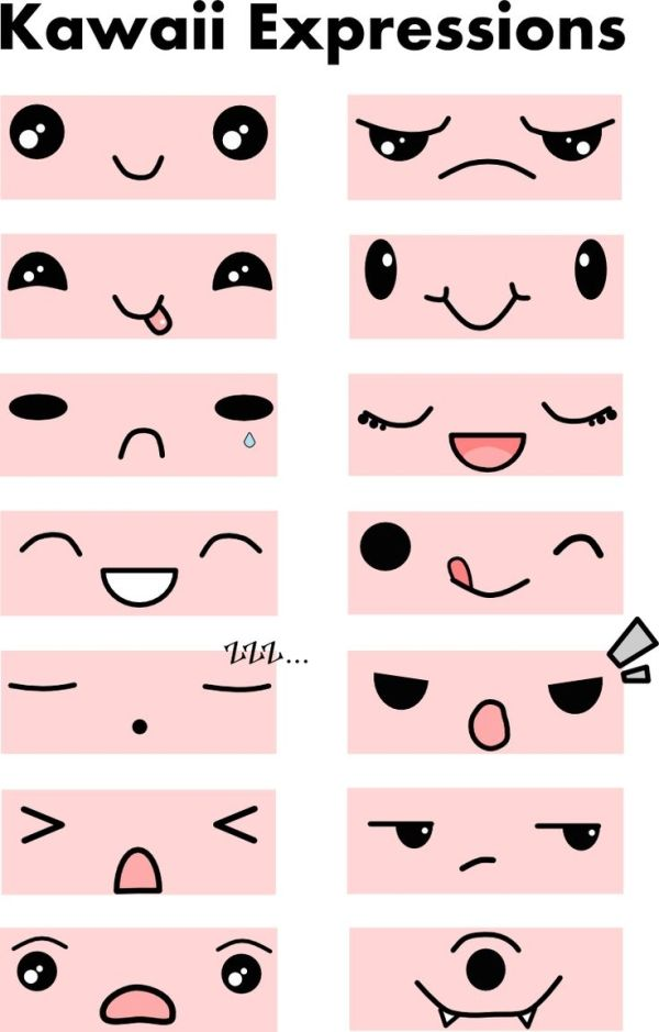 faces for kawaii charms by Bianca Maria