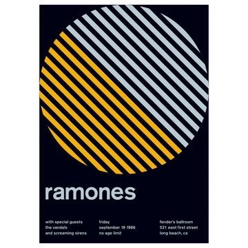 : Punk Rock, Graphic Design, Swiss Modernism, Ramones, Gig Poster, Fender S Ballroom, Design Poster, Music Posters