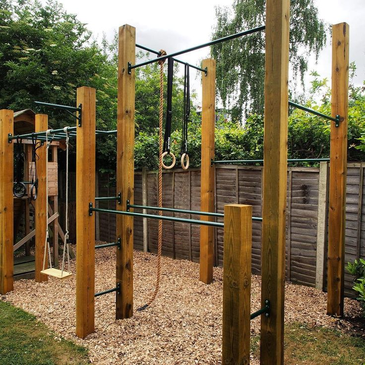 Variation On Our Olympian Outdoorgym Calisthenics Gym Garden Gardengym Olympicrings Fitness Muscle Monke Backyard Jungle Gym Outdoor Gym Backyard Gym