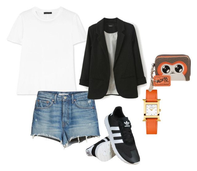 Sin título #11 by vanessa-fuentes-salas on Polyvore featuring moda, The Row, GRLFRND, adidas, Episode and Hermès