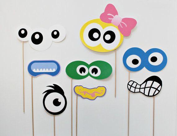 Monster Photo Booth Props. Silly Monster van LittleRetreats op Etsy, $34.00